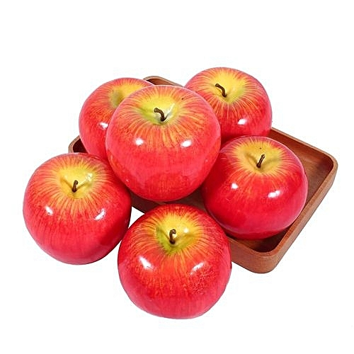 6pcs artificial red apples simulation fruit lifelike home for Sony housse de transport lcscsj ae
