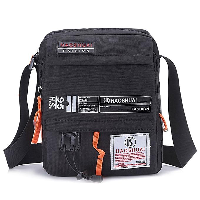 Fashion Men Nylon Messenger Bag Shoulder Crossbody Bags Multifunction Fashion Casual Hiking Bicycle Travel Satchel School Handbag XA80ZC à prix pas cher