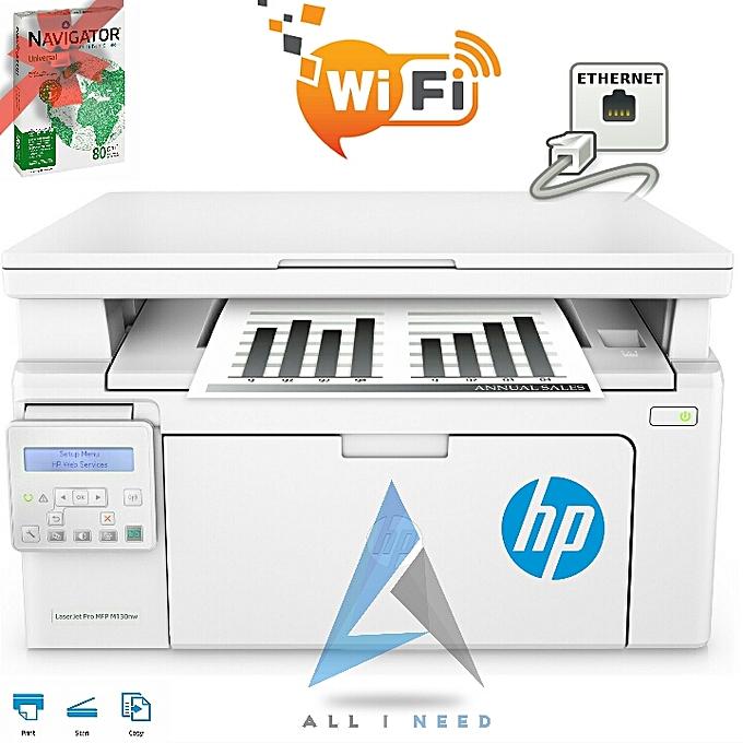 HP LaserJet Pro M130nw multifonction Wi-fi   Scan   Copie   Print   Network + Ramette papier A4 Gratuit à prix pas cher