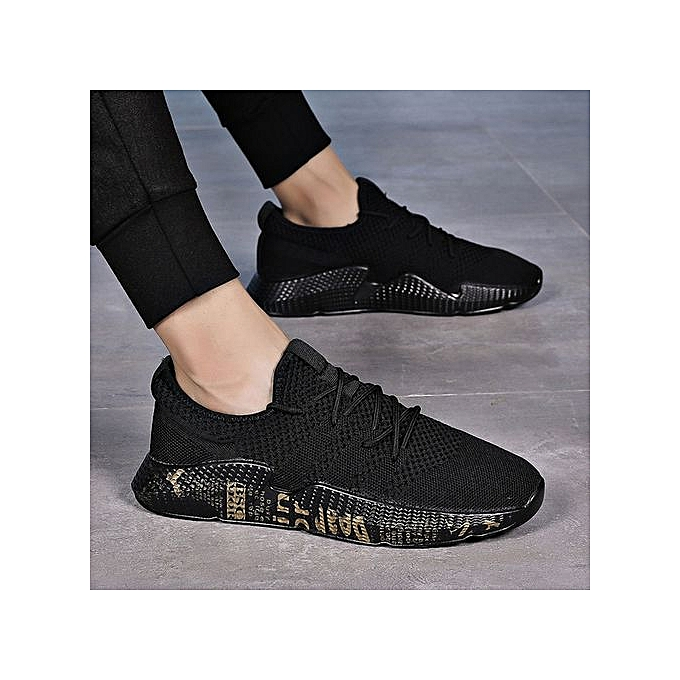 OEM Sports hommes chaussures new breathable mesh chaussures hommes running chaussures mesh casual travel tide chaussures-or à prix pas cher
