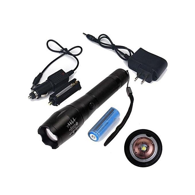 Generic 3000LM XM-L T6 LED Rechargeable Flashlight Torch Lamp Battery Charger à prix pas cher