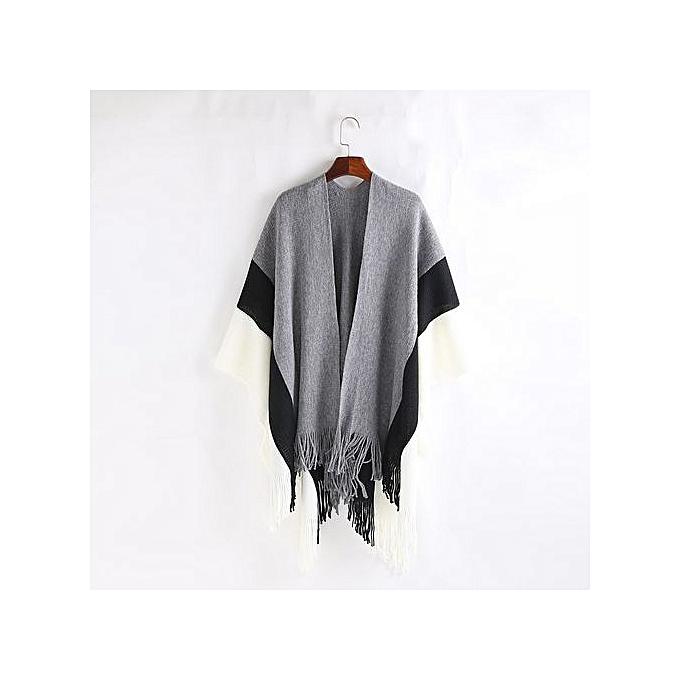 mode mode Trend femmes Couleur Stitch Cashmere Wool rayé Tassel Shawl Soft Neck Svoituref à prix pas cher