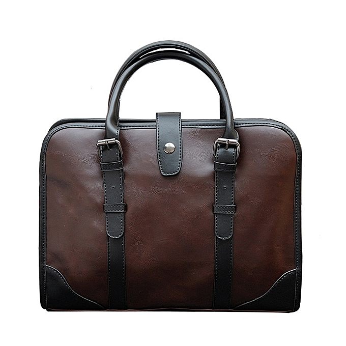 Fashion 2019 NEW Designer Men Briefcase Crazy horse Leather Men's Messenger bags Vintage Laptop HandBags Business office Travel bag L158 à prix pas cher