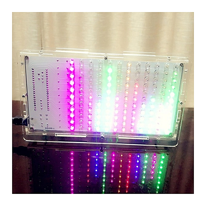 UNIVERSAL DIY 5-Couleur LED Music Spectrum Display Electronic Kit With Case à prix pas cher