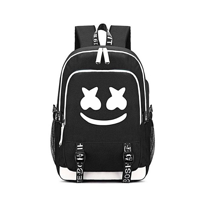 Generic TB Dj Electric Sound Marshmello sac à dos Cotton Candy Middle Student sac-noir à prix pas cher