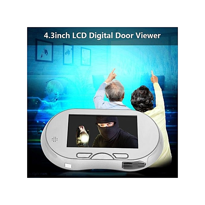 Other 4.3  Digital Door Viewer Peephole Doorbell IR Camera Monitor Home Security System 110V US Plug à prix pas cher