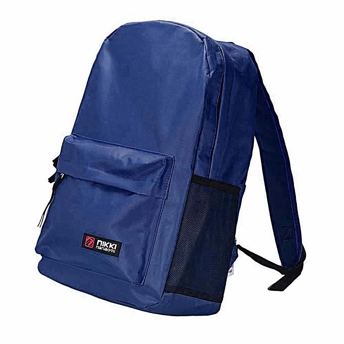 Neworldline Neutral Canvas Rucksack Backpack School Book Shoulder Bag DB-Dark bleu à prix pas cher