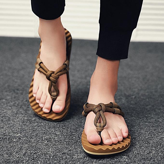 Fashion (Xiuxingzi) Men Summer Beach Sandals Flat chaussures Sandal Hombre Sewing chaussures Flip Flops chaussures à prix pas cher