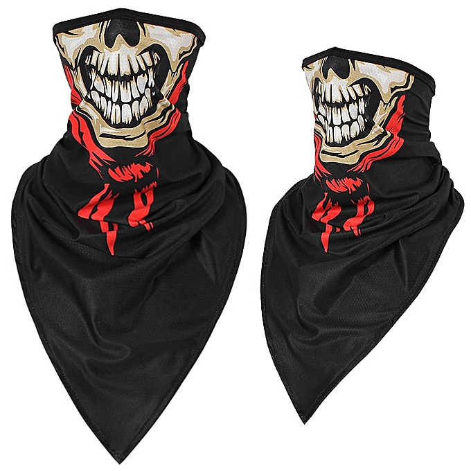 Autre Halloween Scarf Mask Summer Motorcycle Face Shield Skull Ghost Windproof Sun Mask Balaclava Bicycle Bike Neck Warmer Ice Silk( 204HL Ice silk) à prix pas cher