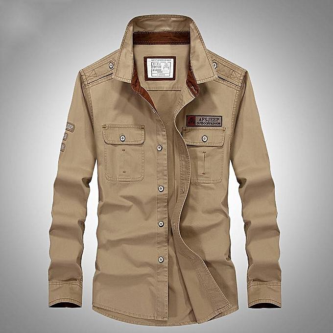 GENERAL Hommes manche longue Turn-down Collar  Cotton respirant Pour des hommes Robe Shirt Camiseta Masculina Plus Taille 5XL Shirt à prix pas cher
