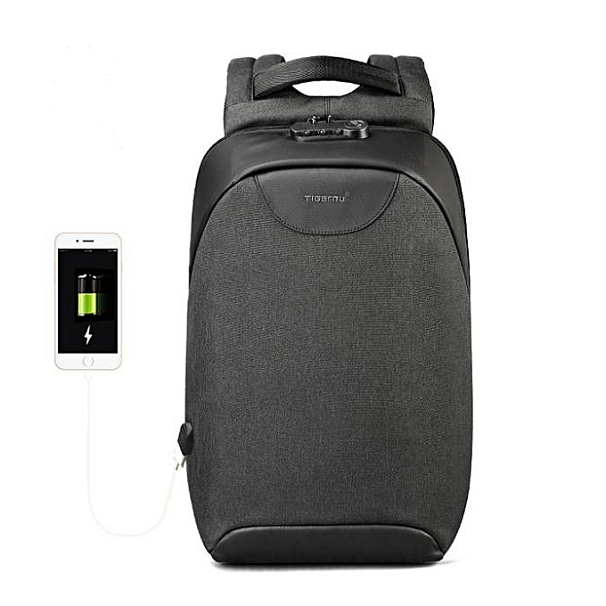 OEM New arrivel Men 15 15.6 inch Anti theft Laptop Backpacks Multifunction Waterproof USB Backpack For Man noir à prix pas cher