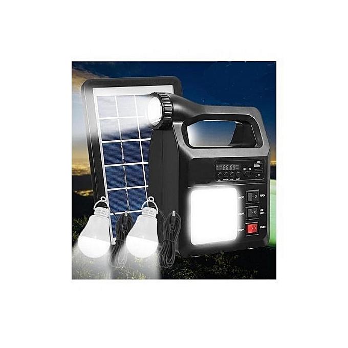 Solar charger Système d'éclairage Solaire avec Radio et MP3 à prix pas cher