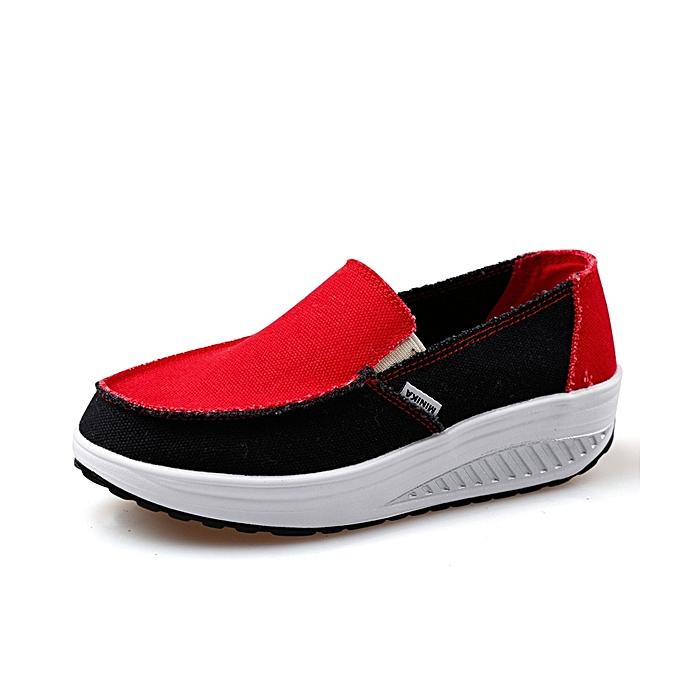 Fashion femmes Sport Running Rocker Sole chaussures Casual Outdoor Slip On Flats à prix pas cher    Jumia Maroc