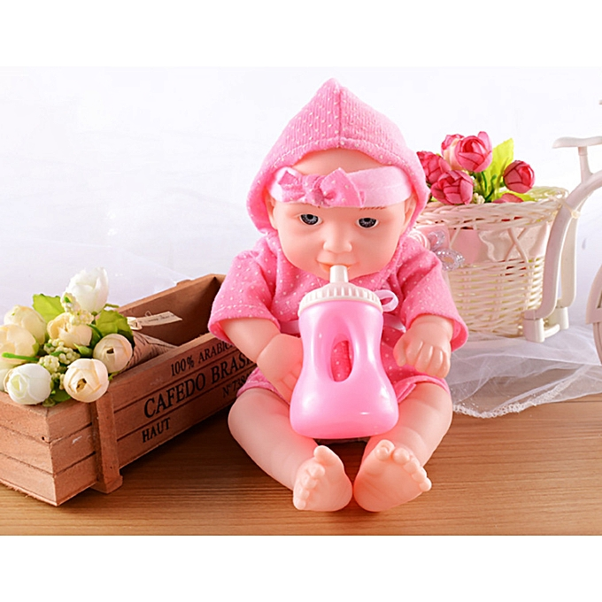 Generic Music   Doll Reborn Lifelike Vinyl nouveauborn Girl Handmade Silicone Gift Toy PK à prix pas cher