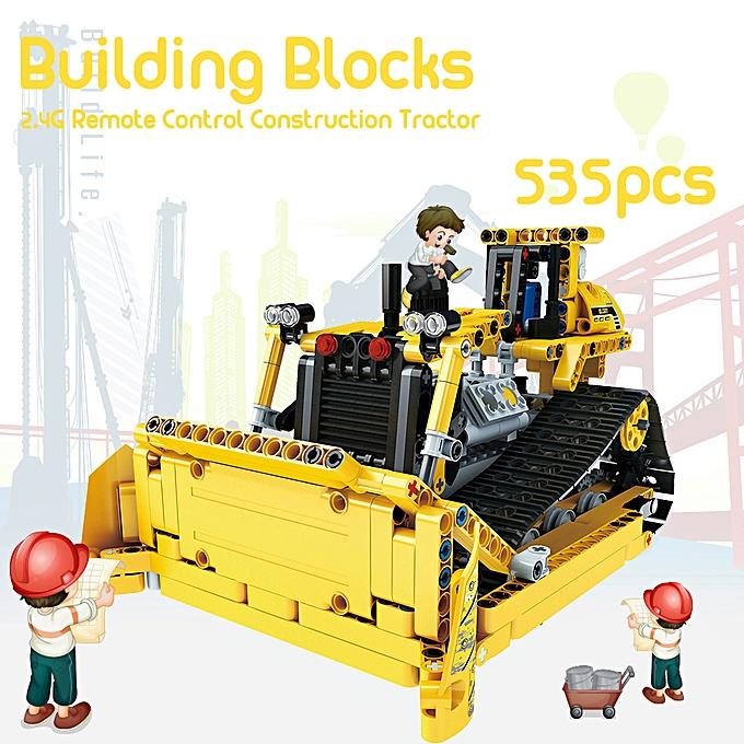 Autre Engineebague Truck Building Blocks Educational Toy Bricks 2.4G Remote Control Construction Tractor Toys for Enfants Christmas Gift 535pcs à prix pas cher