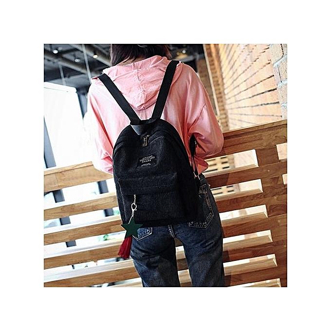 Generic Wohommes mode toile Tassel School sacs voyage sac à dos sac BK à prix pas cher
