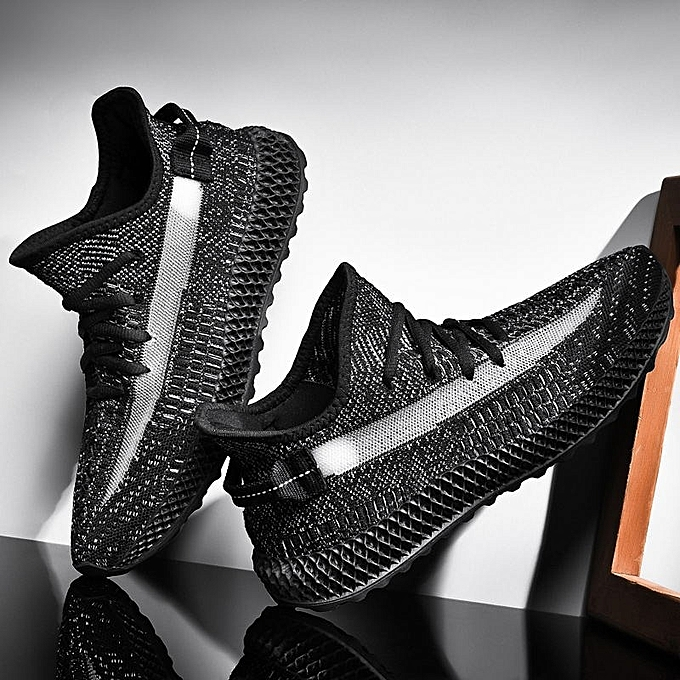 Other Stylish Flying Woven Men's Breathable baskets Hollowing Out chaussures noir à prix pas cher