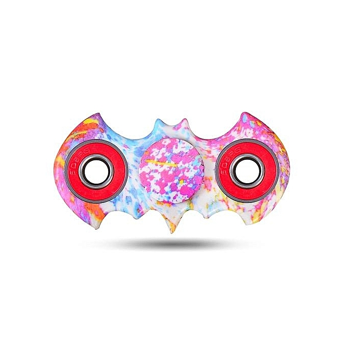 Generic Watercolour Bat Pattern ABS Hand Spinner Finger Toy à prix pas cher