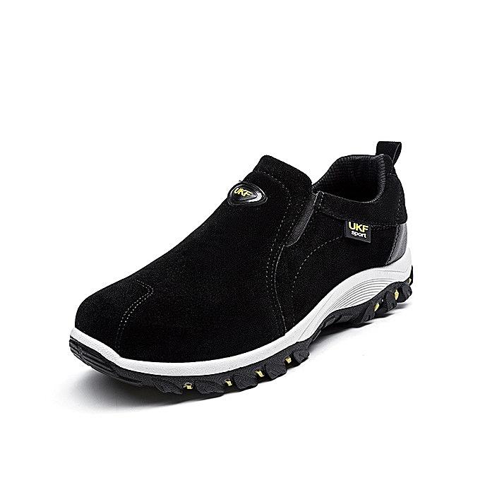 OEM nouveau hommes chaussures suede chaussures de plein air hiking FonctionneHommest hommes chaussures-noir à prix pas cher