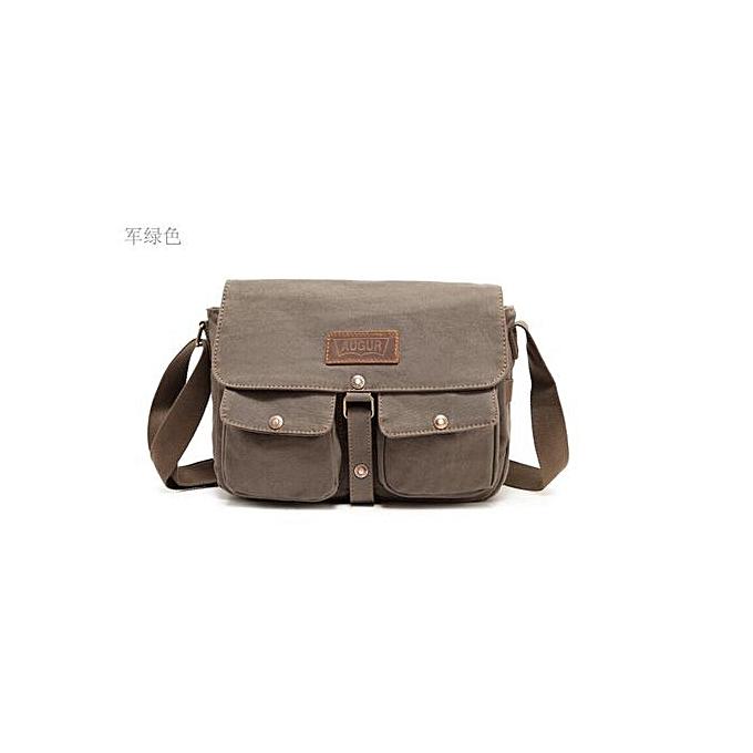 Fashion New army style canvas hommes bags vintage messenger shoulder bag à prix pas cher
