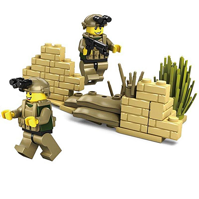 OEM Kazi Tank Team Building Blocks Sets Toys Educational Gift Fidget Toys  84043+84 à prix pas cher