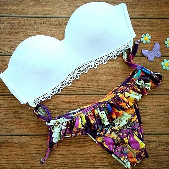 Fashion TCE 2015 femmes Bikini Set blanc S à prix pas cher