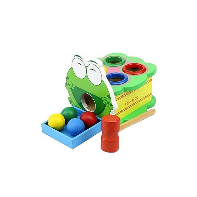 Fashion GI store Novelty Funny Toys Ball Hammer Hiting Frog Shape Game Kids Developmental Intellectual Development à prix pas cher