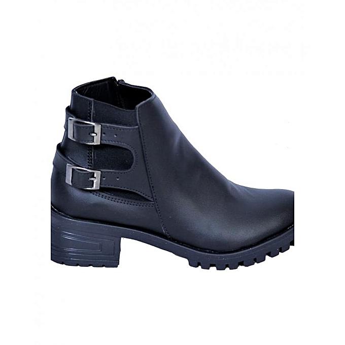 Generic Bottines bottes chaussures femmes - Noir à prix pas cher    Jumia Maroc