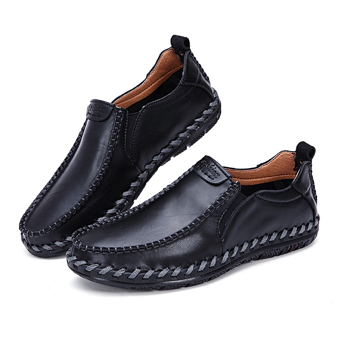 Fashion Men's Driving Casual Boat chaussures Leather chaussures Comfort Moccasin Slip On Loafers à prix pas cher