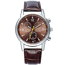 7e356ec30 Fashion Mens Watches Business Quartz Watches Waterproof Wristwatch Metal  Alloy Leather Strap Watches - Coffee