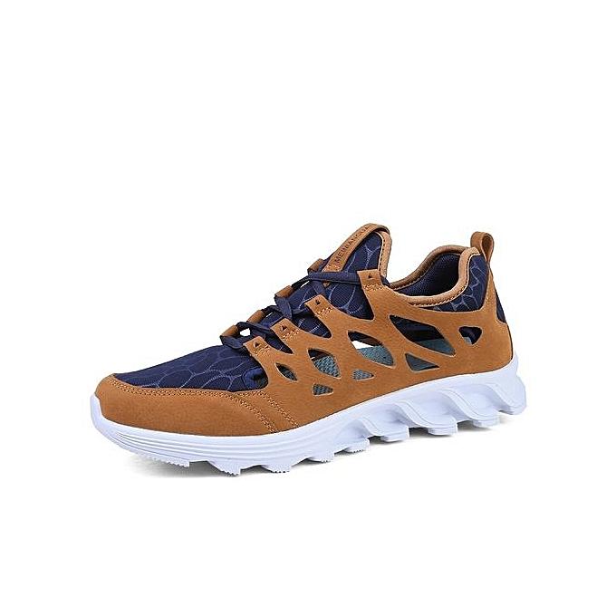 Fashion Running chaussures Men Breathable baskets Slip-on Free Run Sports Fitness Walking Freeshipping-marron à prix pas cher