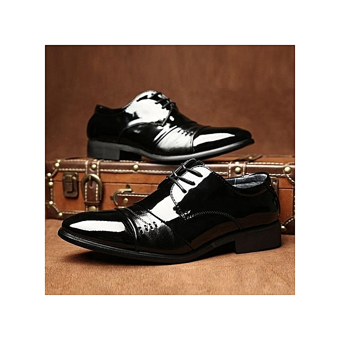 Fashion   New Outdoor Walking Trend Trend Walking For Fashion Business Leather Black Wedding Shoes-BLACK à prix pas cher  | Jumia Maroc f8f13d