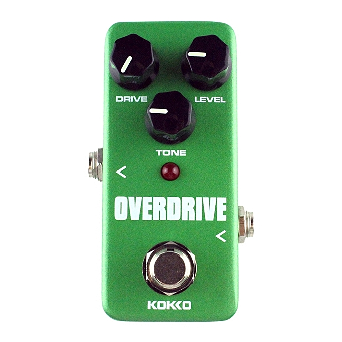 UNIVERSAL KOKKO FOD3 Mini Electric Guitar Tube Sound Overload Monoblock Effects Pedal(vert) à prix pas cher