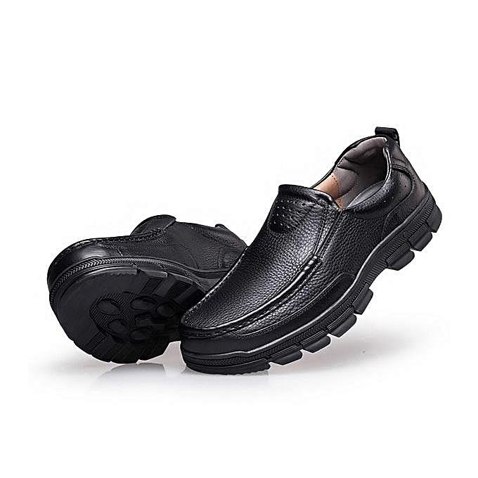 Fashion Fashion Fashion Fashion   Large Size   Genuiner Leather Soft Business Casual Formal Shoes-EU à prix pas cher    Jumia Maroc f81b1c