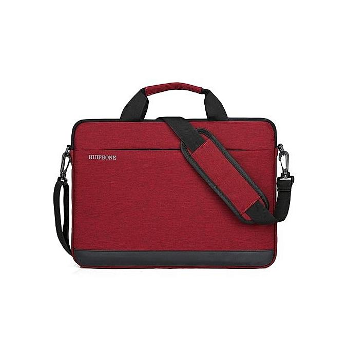 Fashion 14 inch Men's Business Laptop Bag Lady Shoulder Notebook Bag-rouge à prix pas cher