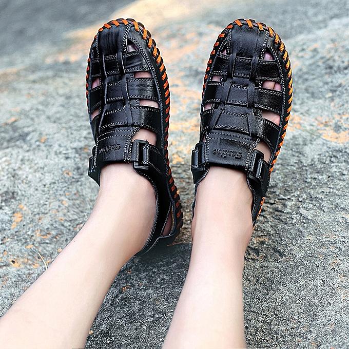 Fashion jiuhap store Men's Summer Fashion Trend Beach Casual Comfort Wild Sandals à prix pas cher