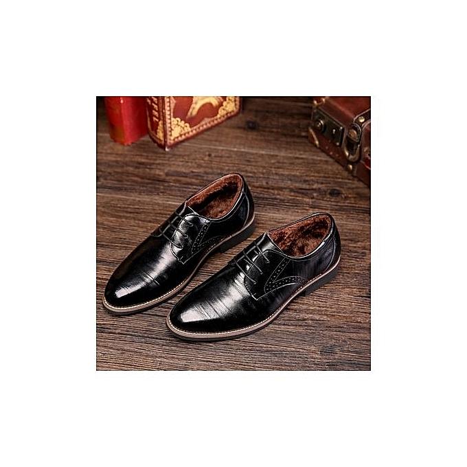 Fashion  's Leather Shoes Fashion Tide Shoes Shoes Tide Pointed Single Shoes Business  's Shoes Large Size Shoes-BLACK à prix pas cher  | Jumia Maroc b78d25