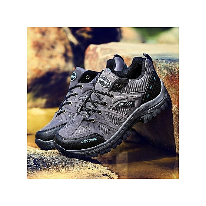 Fashion Large Size 48 48 Size  's Hiking ShoesMountain Outdoor Tourism Hunting Sports Shoes Hiking Sneakers-Gris  à prix pas cher  | Jumia Maroc 549b39