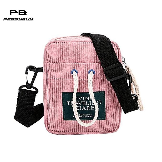 Other Décontracté femmes Hommes petit Shoulder Messenger sacs Corduroy Uni Satchel sacs for femmes 2018 bolsa feminina sac main femme bourse(rose) à prix pas cher