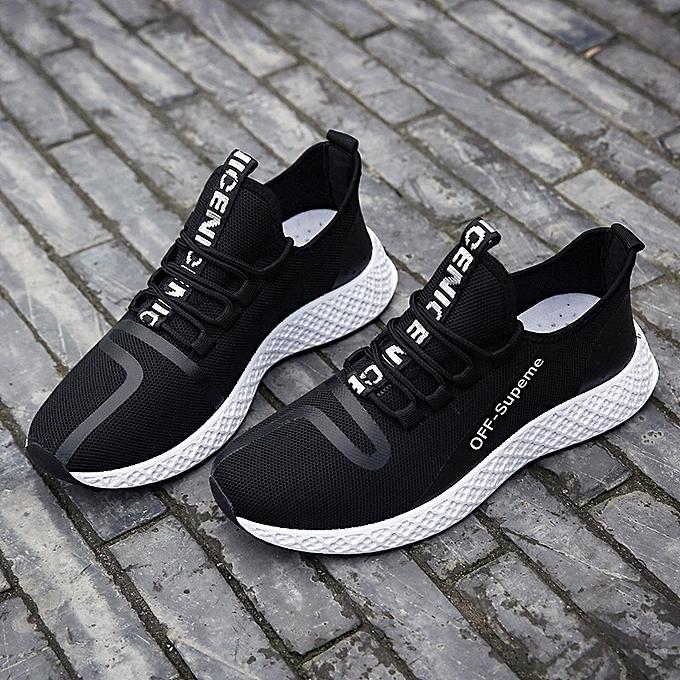 Other Spbague Korean Hommes's Coconut chaussures student Sports chaussures courir  respirant Flat chaussures-blanc à prix pas cher