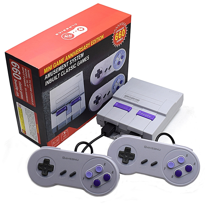 Autre Game Console 8 Bit Handheld Gaming Player AV-USB Interface Built-In 660 Games for Family EntertainHommest à prix pas cher