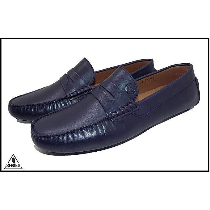 MY SHOES Mocassins Hommes 100 % cuir -Bleu- My Shoes Shoes My à prix pas cher  | Jumia Maroc e6e6ba