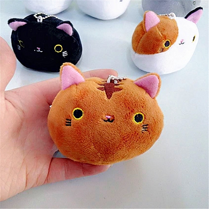Autre nouveau 1PCS 6Couleurs KAWAII 8CM Cats Stuffed TOYS Keychaîne Cat Gift Plush TOY DOLL For Enfant's Party Birthday Plush Toys For Girl nouveau(4) à prix pas cher
