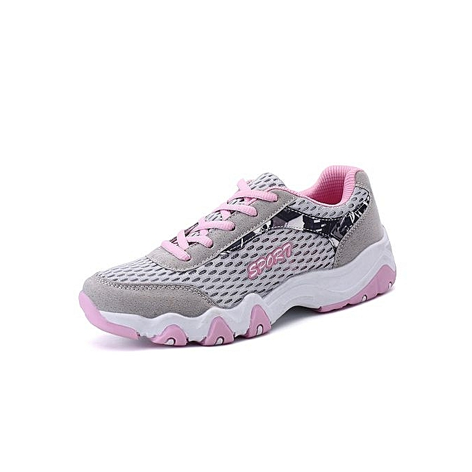 Fashion Wo  Running Sport Shoes Outdoor Running  Jogging Shoes -Light Grey à prix pas cher  | Jumia Maroc be9168