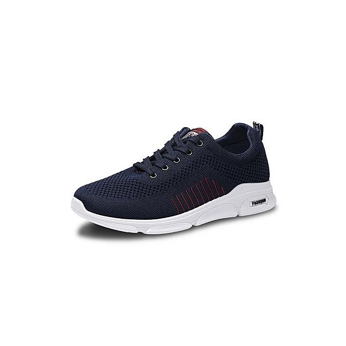 mode Chaussures de sport pour hommes Tricot paniers Chaussures occasionnelles -Bleu à prix pas cher