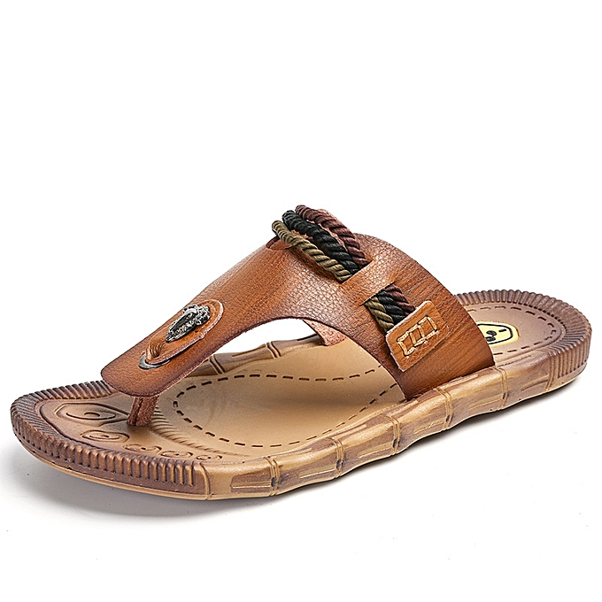 mode Male Slippers de plein air respirant Slippers - marron à prix pas cher