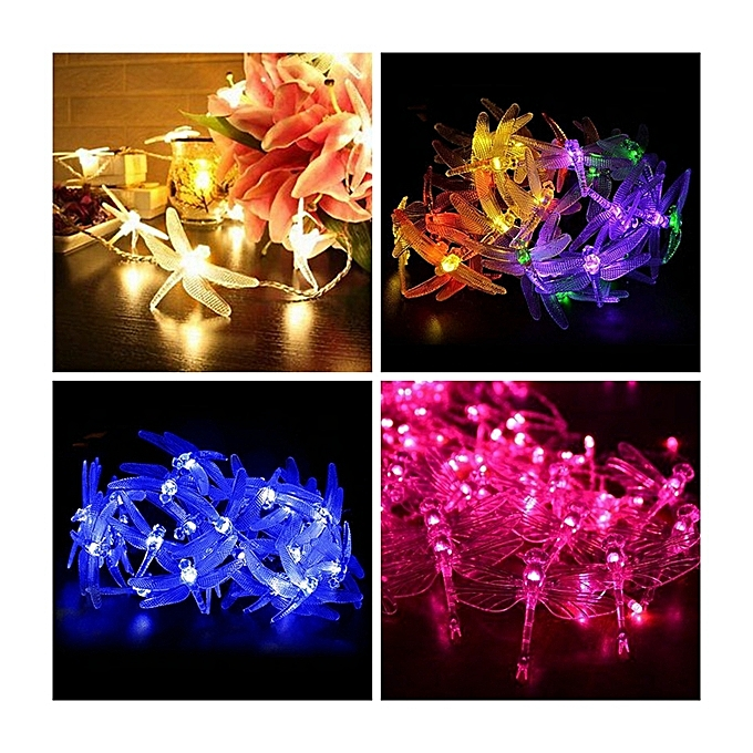 UNIVERSAL Battery Powerouge 2.5M 5M Dragonfly LED Fairy String Lights for Christmas Wedding Party DC4.5V- à prix pas cher