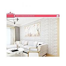 4c04fe191 3D Brick Wall Sticker Self-Adhesive Foam Wallpaper Panels Room Decal-white