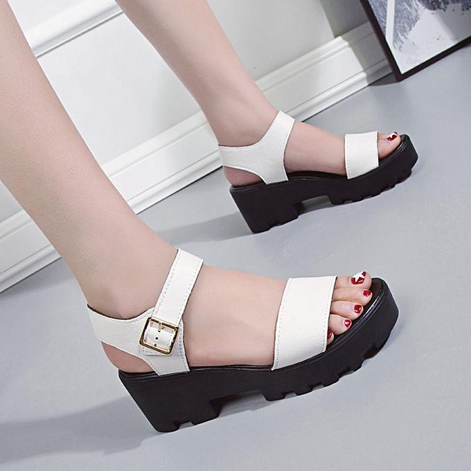 Fashion jiahsyc store Wohommes Fashion Solid Couleur Sandals Casual Wild Sandals Comfortable Sandals à prix pas cher