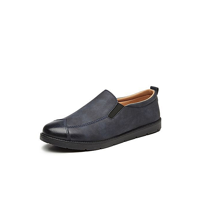 OEM New one-legged hommes lazy casual chaussures Korean version of the foot Lok Fu chaussures wild hommes chaussures-bleu à prix pas cher